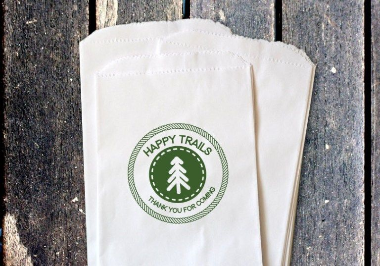 Happy trails with this trail mix favor bag printable