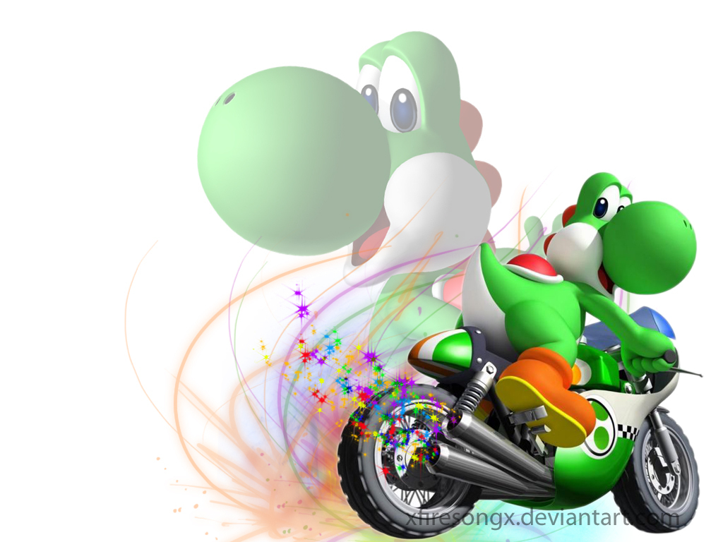 Webpaws Family Run Providing Safe Parent Approved Online Games For - Yoshi zooming on a bike