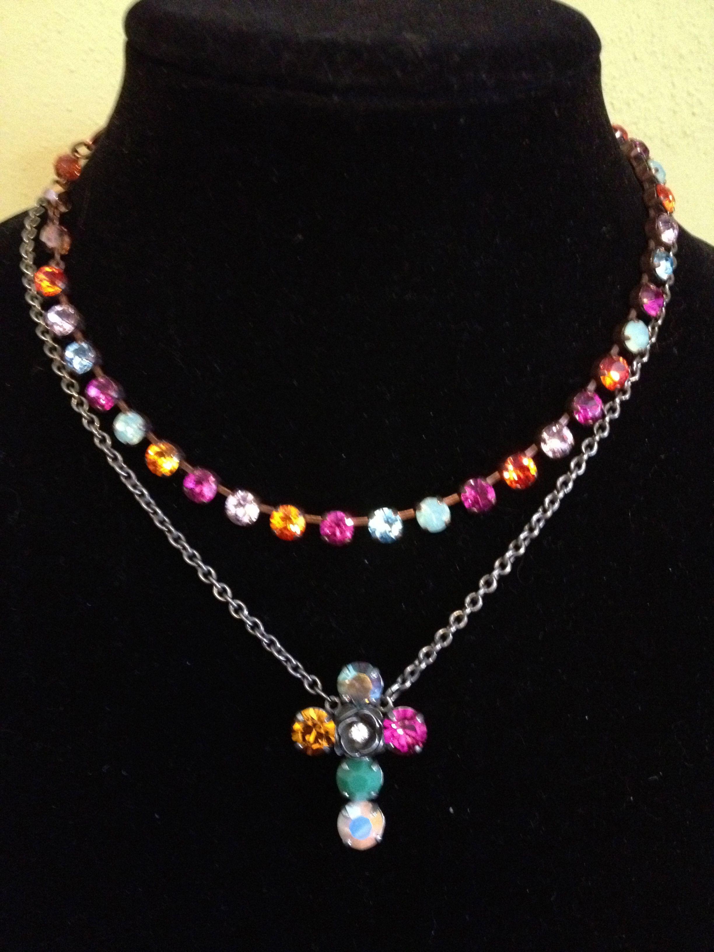 Sabika look necklace - Sabika S12 Dolce Vita London Choker S13 Vintage T Shirt Cross Necklace Karen