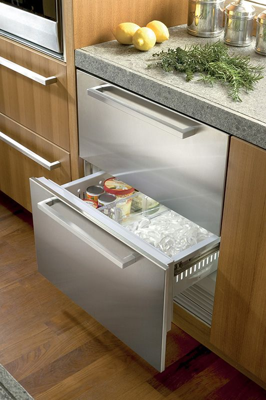 Integrated Refrigerator Freezer Drawers Integrated
