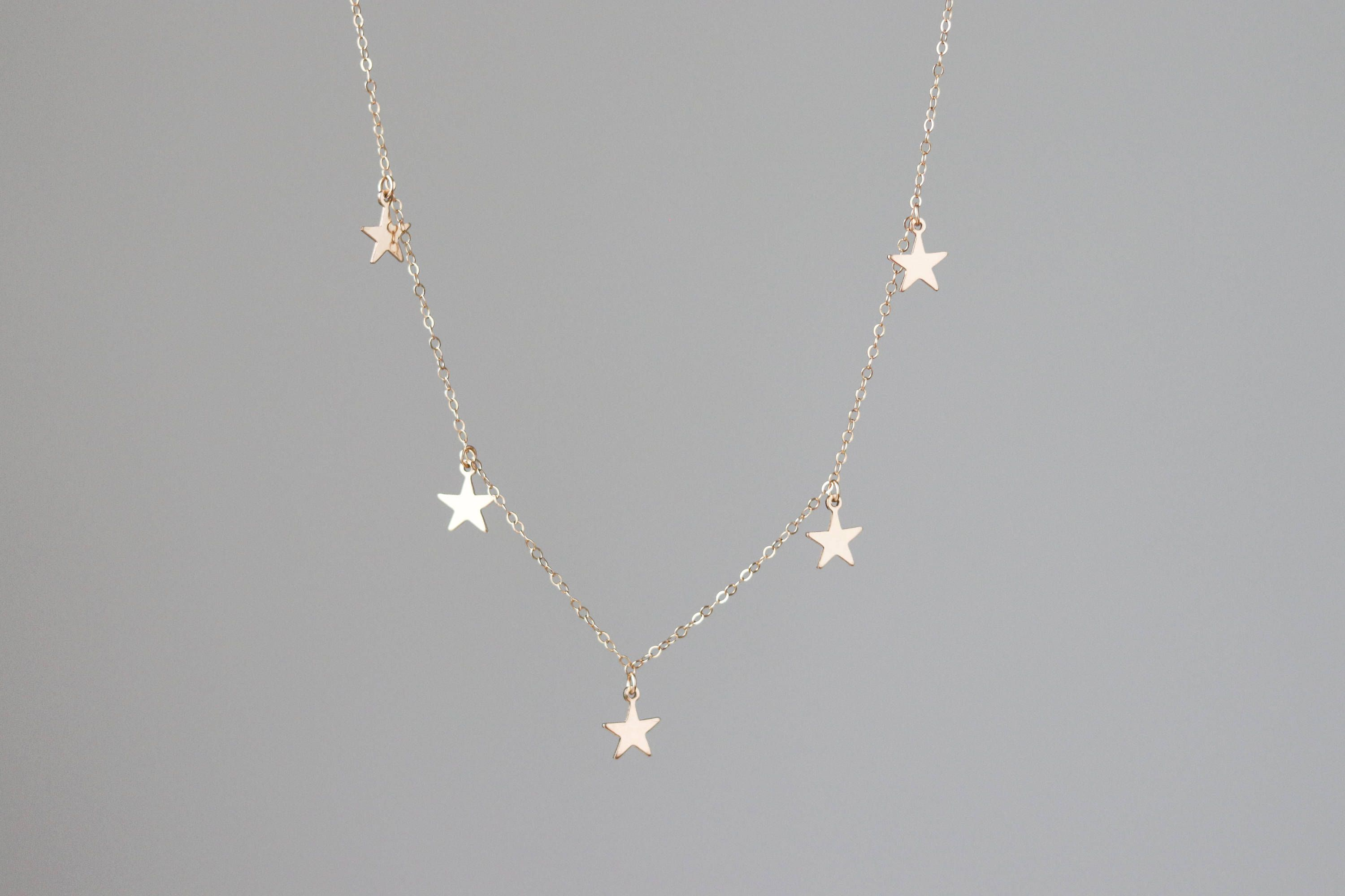 silver star handmade stamped gold jewelry necklace shining necklaces tiny eden copy or shop hand reija