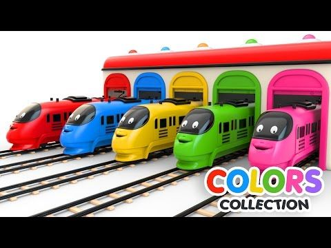 Colors For Children To Learn With Toy Trains Colors Videos Collection Youtube This Video About Learning C Coloring For Kids Train Adventure Learning Colors