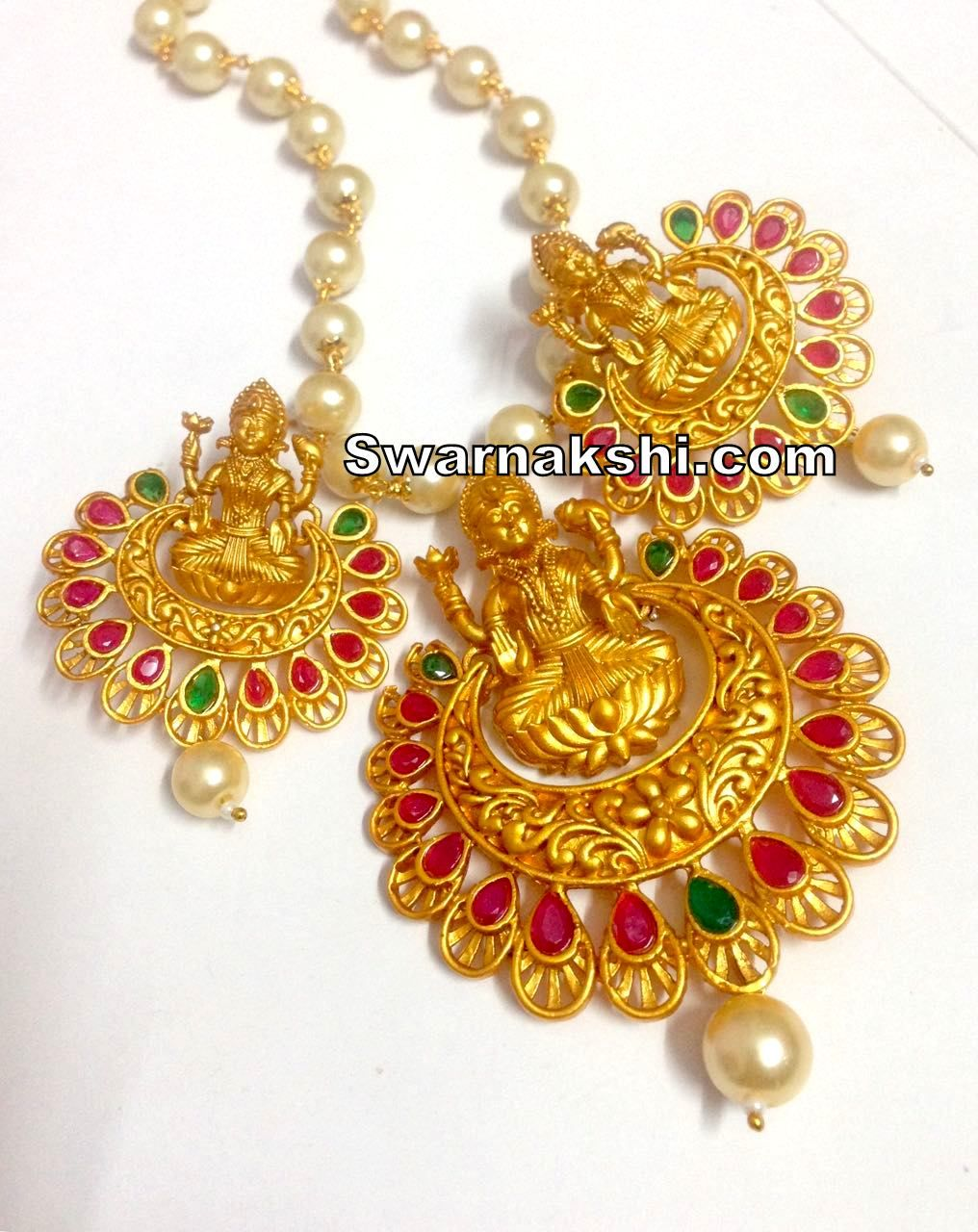 1 gram gold ruby emerald lakshmi chandbali pendant set buy online 1 gram gold ruby emerald lakshmi chandbali pendant set buy online swarnakshi jewels and accessories aloadofball Image collections
