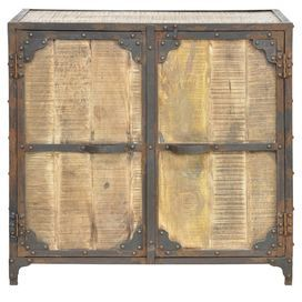 Mango Wood Cabinet With Two Doors And A Distressed Finish Product Cabinetconstruction Material