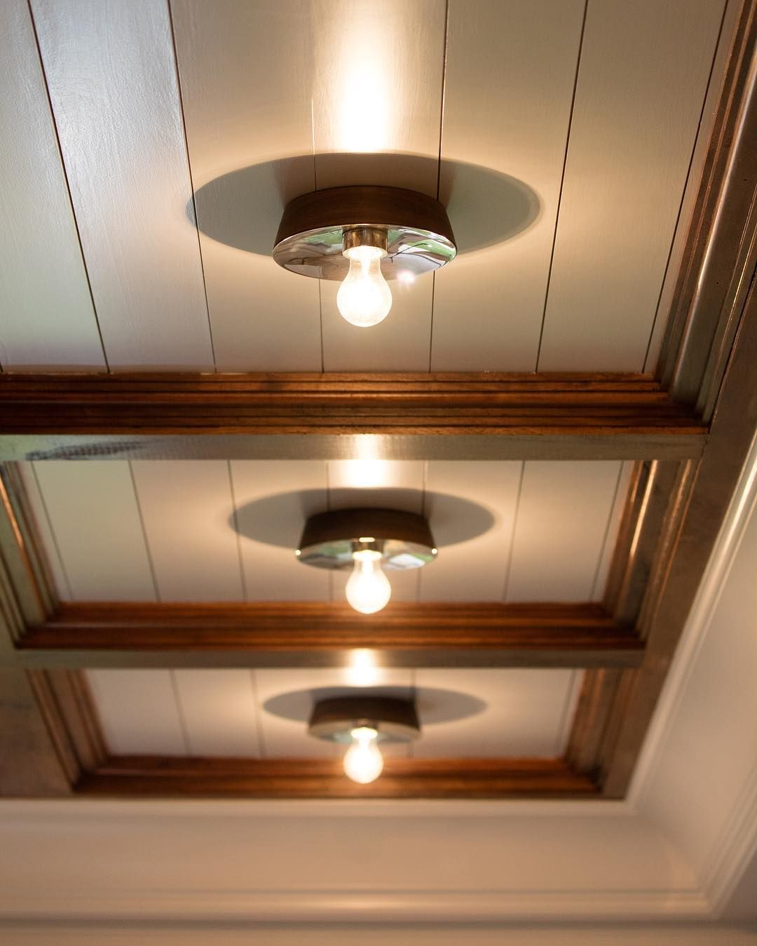 """201 Likes, 5 Comments - The Urban Electric Co. (@urbanelectricco) on Instagram: """"Did you #KickTheCan yet? @mrbradleyshops did it with the #Marin on this stunning #CofferedCeiling.…"""""""