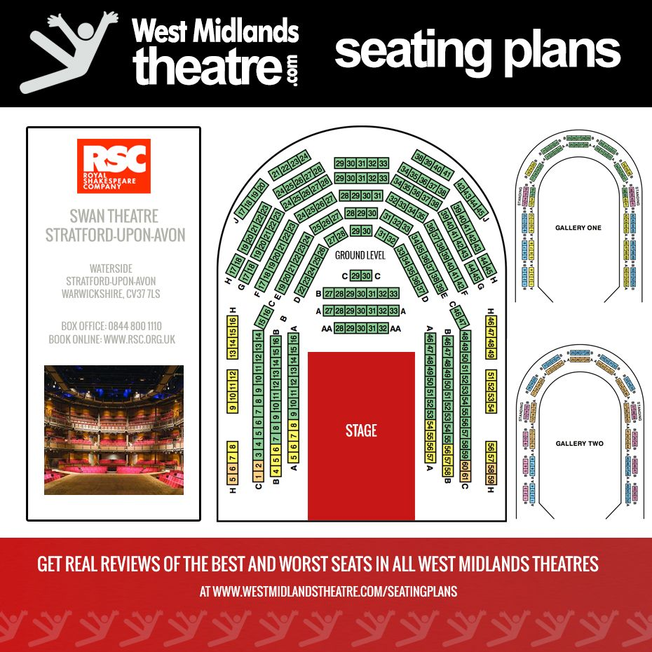 West Midlands Theatre Seating Plan For The Rsc Swan