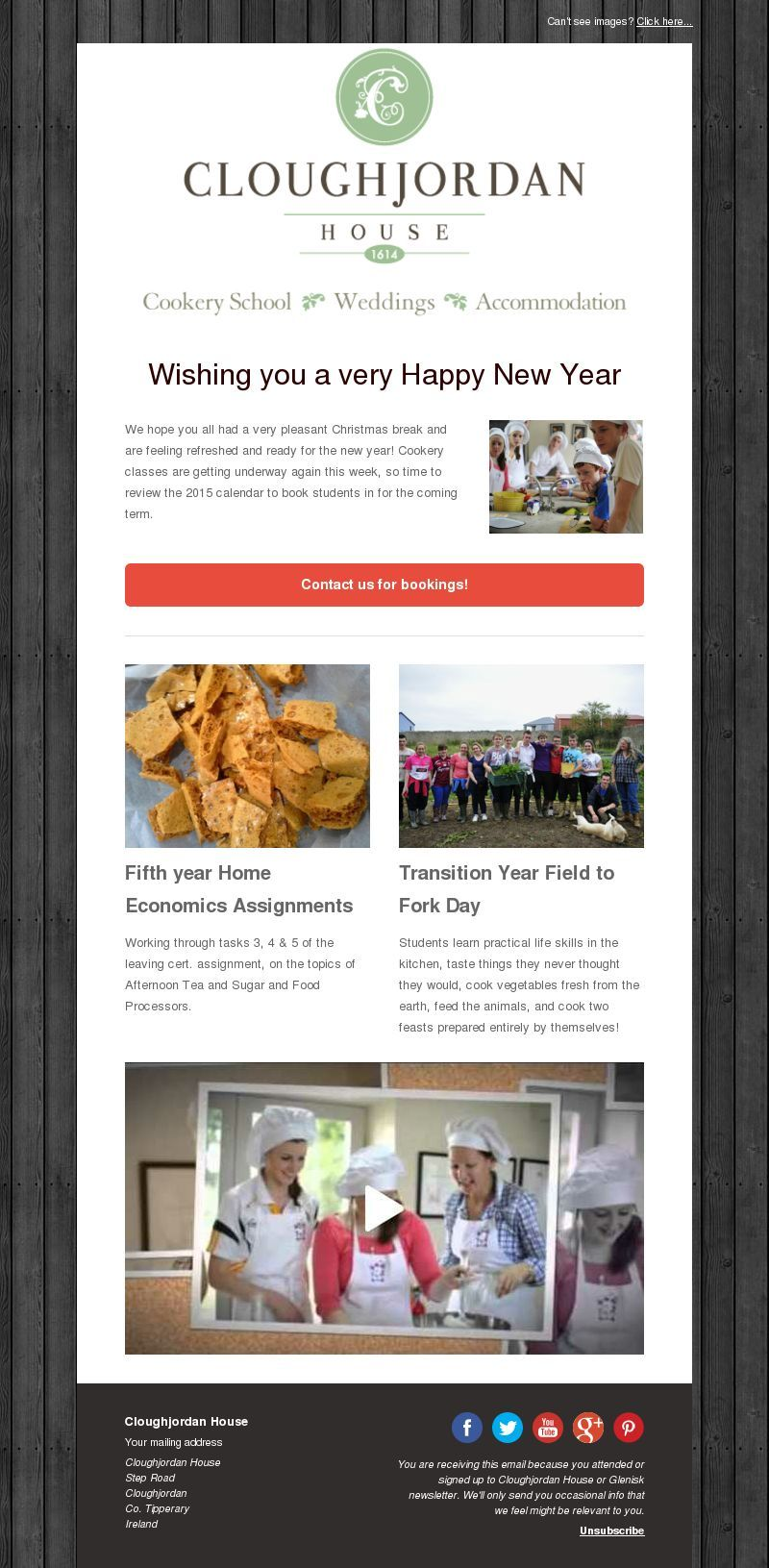 Cloughjordan House Newsletter Made With Mailerlite Newsletter Design Newsletter Design Layout Email Newsletter Design