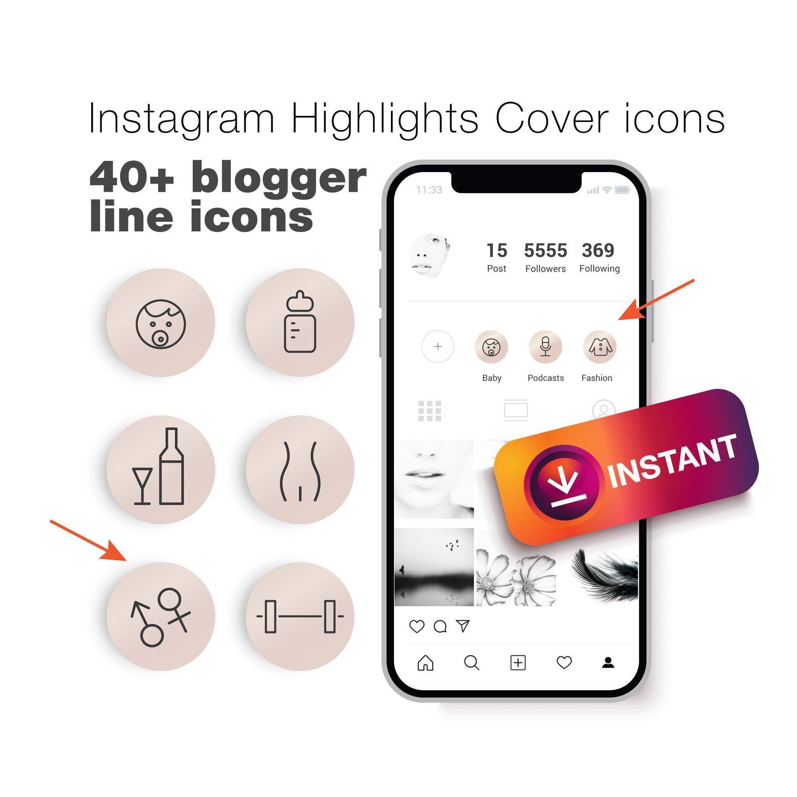 40+ Instagram Story Highlight Icons. Instagram story