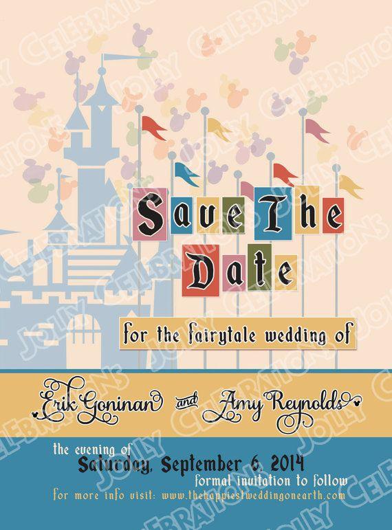 Disney Wedding Disney Themed Save The Dates – Disney Wedding Save the Dates