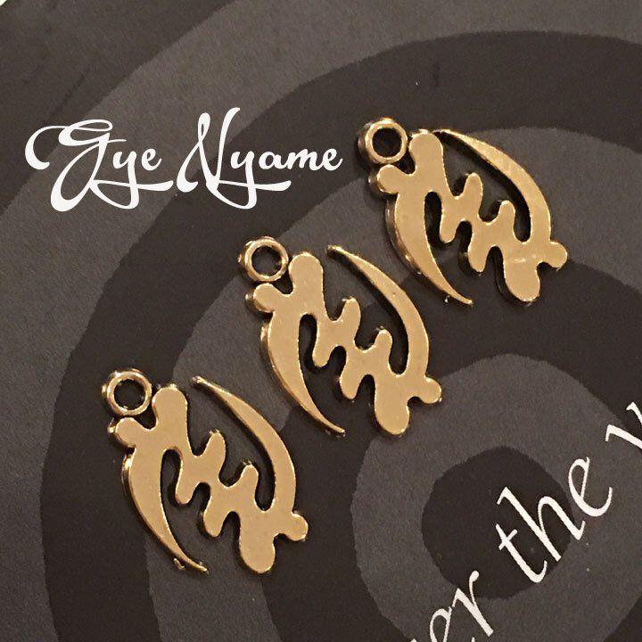 Set of 10-Gye nyame Adinkra Pewter Charms