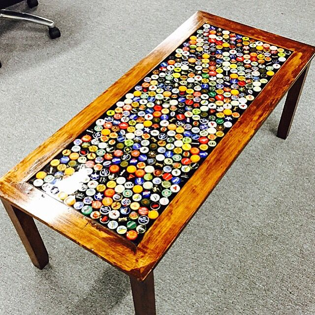 Elegant Beer Cap Coffee Table
