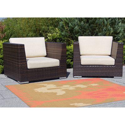 """Beachcrest Home Maile Ikat Pink/Green Indoor/Outdoor Area Rug Rug Size: Runner 1'11"""" x 7'6"""""""