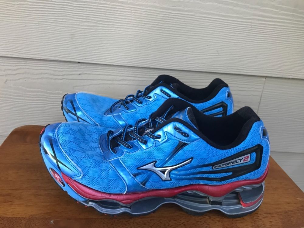 online store 67f7c 9a7f4 Mizuno Wave Prophecy 2 Mens Athletic Running Shoes Blue Silver Red Size 9   fashion  clothing  shoes  accessories  mensshoes  athleticshoes (ebay link)