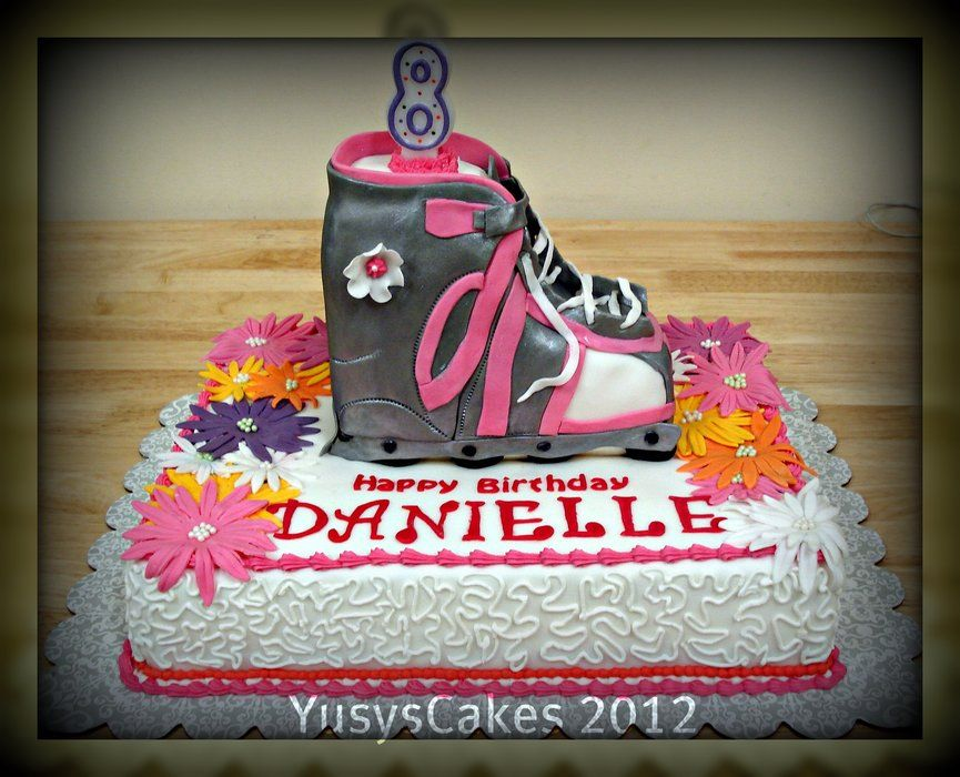 Rollerblade Cake Cake Childrens Party Birthday Parties