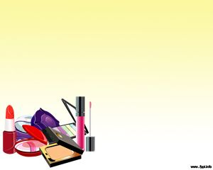 Free make up powerpoint templates with yellow background and free make up powerpoint templates with yellow background and cosmetic items with lipstick and more toneelgroepblik Choice Image