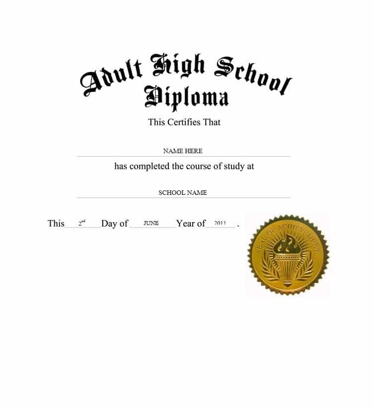 30 Real & Fake Diploma Templates (High School, College