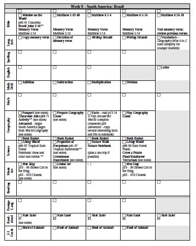 Kindergarten GridFormat Lesson Plans Homeschool Pinterest - Gifted lesson plan template