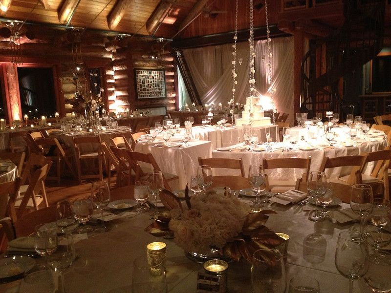 Elegant Gold Winter Wedding // white and gold centerpieces
