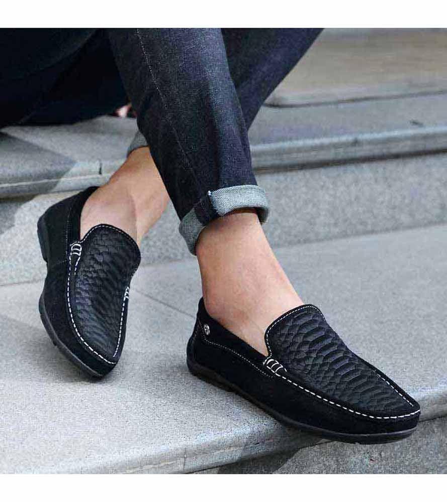 Black Fish Scale Pattern Slip On Shoe Loafer Sneakers Men Fashion Dress Shoes Men Loafers