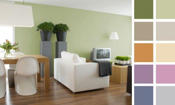 Carta colores apagados para interiores interiores verdes - Carta de colores para pintar paredes interiores ...