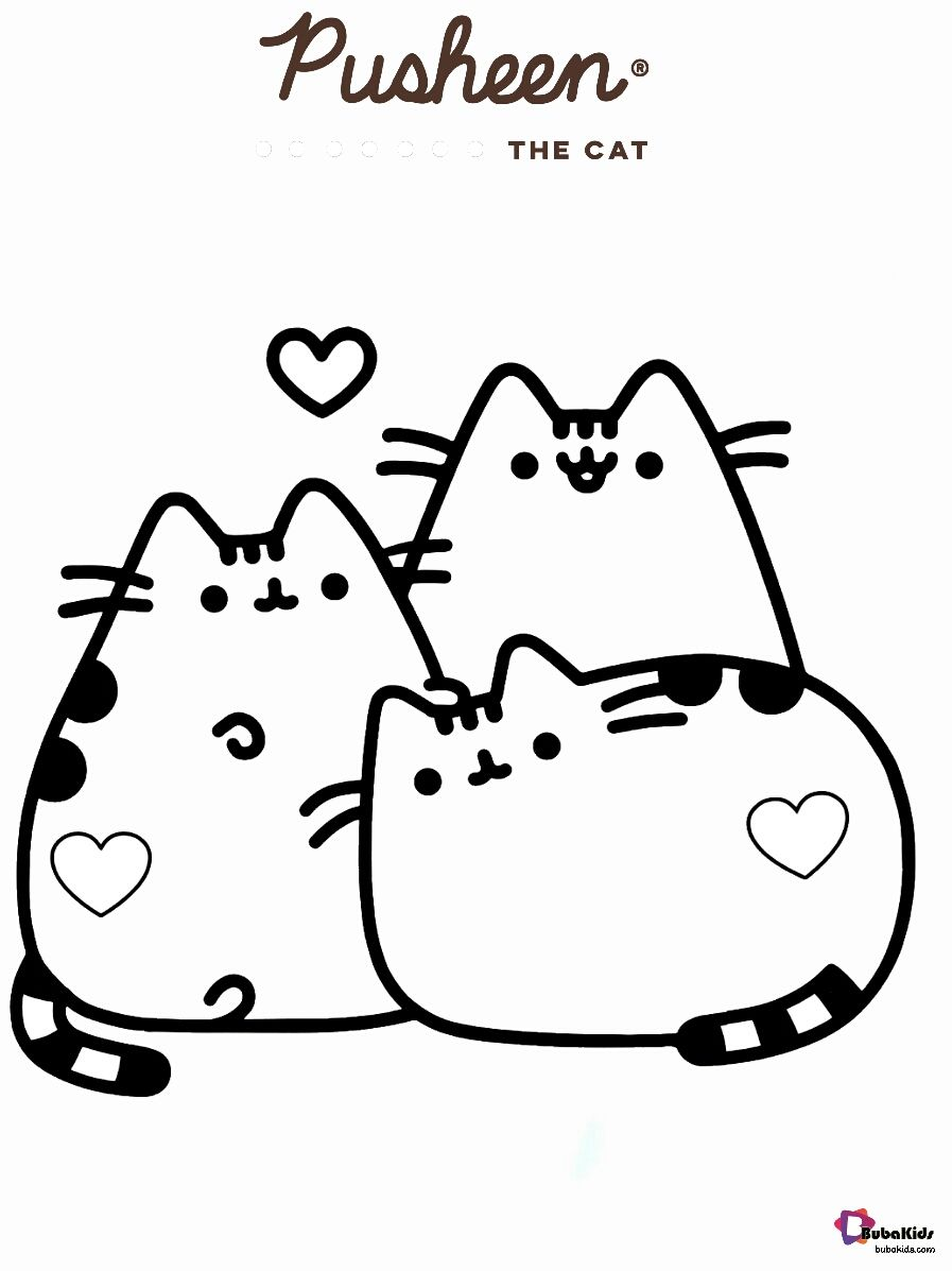Pusheen The Cat And Friends Coloring Pages Collection Of Cartoon Coloring Pages For Teenage Printable Coloring Pages Cartoon Coloring Pages Cat Coloring Page