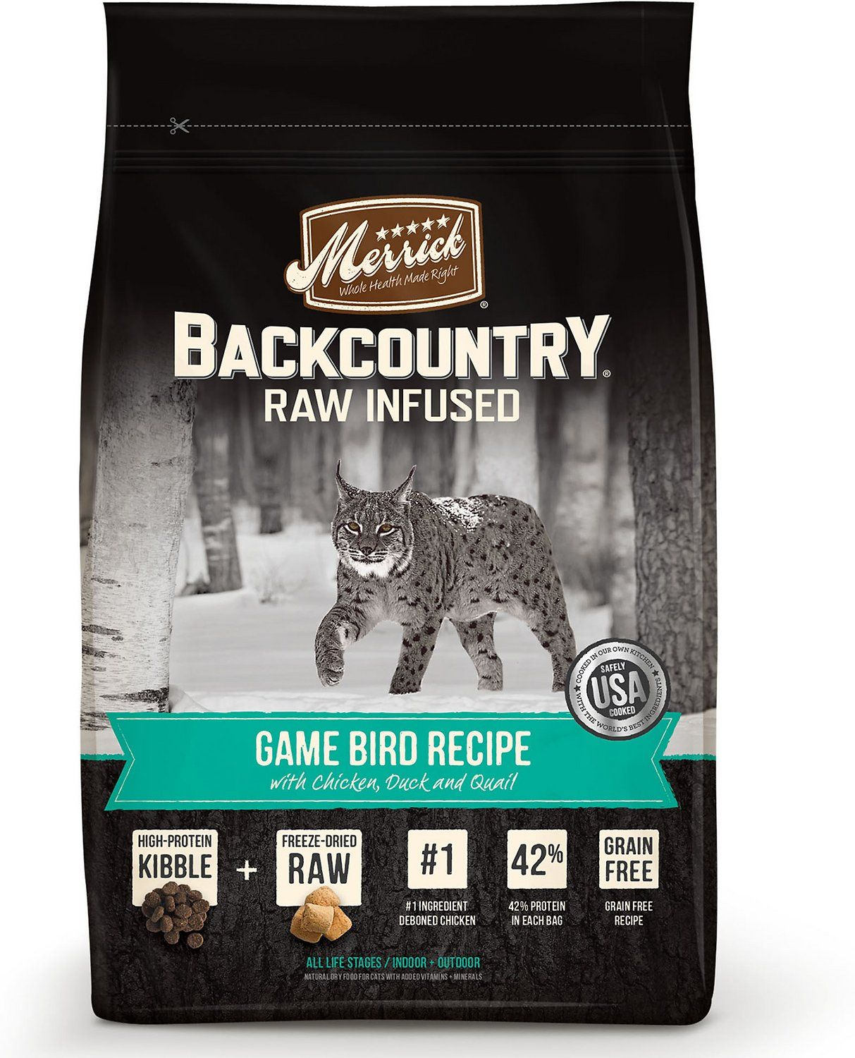 Merrick Backcountry Raw Infused Game Bird Recipe with