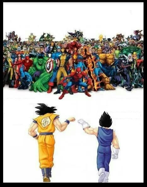 Anime Characters Vs Superheroes : Dragon ball vs american comics superheroes manga anime