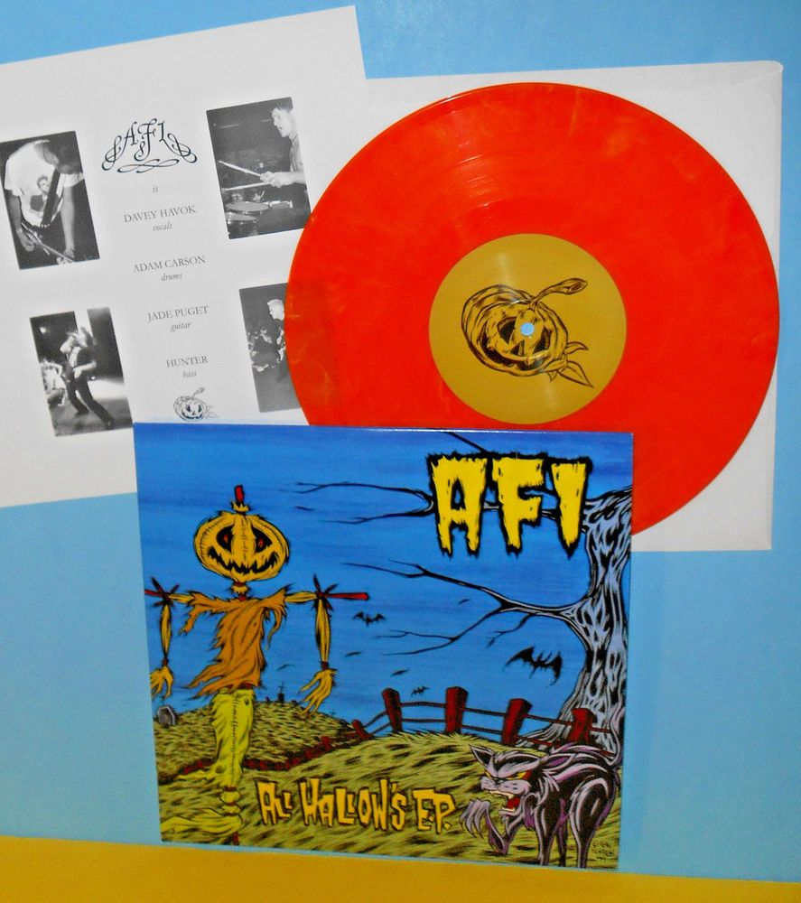 Afi All Hallows Ep 10 Record Orange Vinyl With Lyrics Insert Misfits Cover Trk Punkpunknewwave Vinyl Records New Vinyl Records