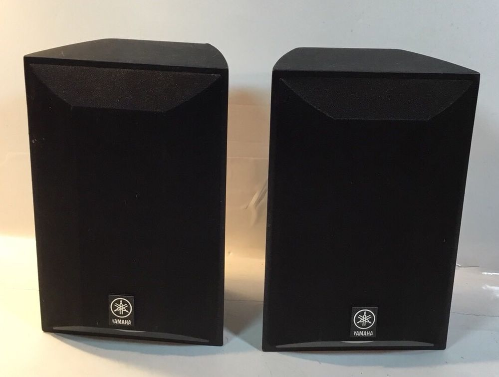 Yamaha NS AP6500S Satellite Mini Bookshelf Stereo Speakers Set Of 2