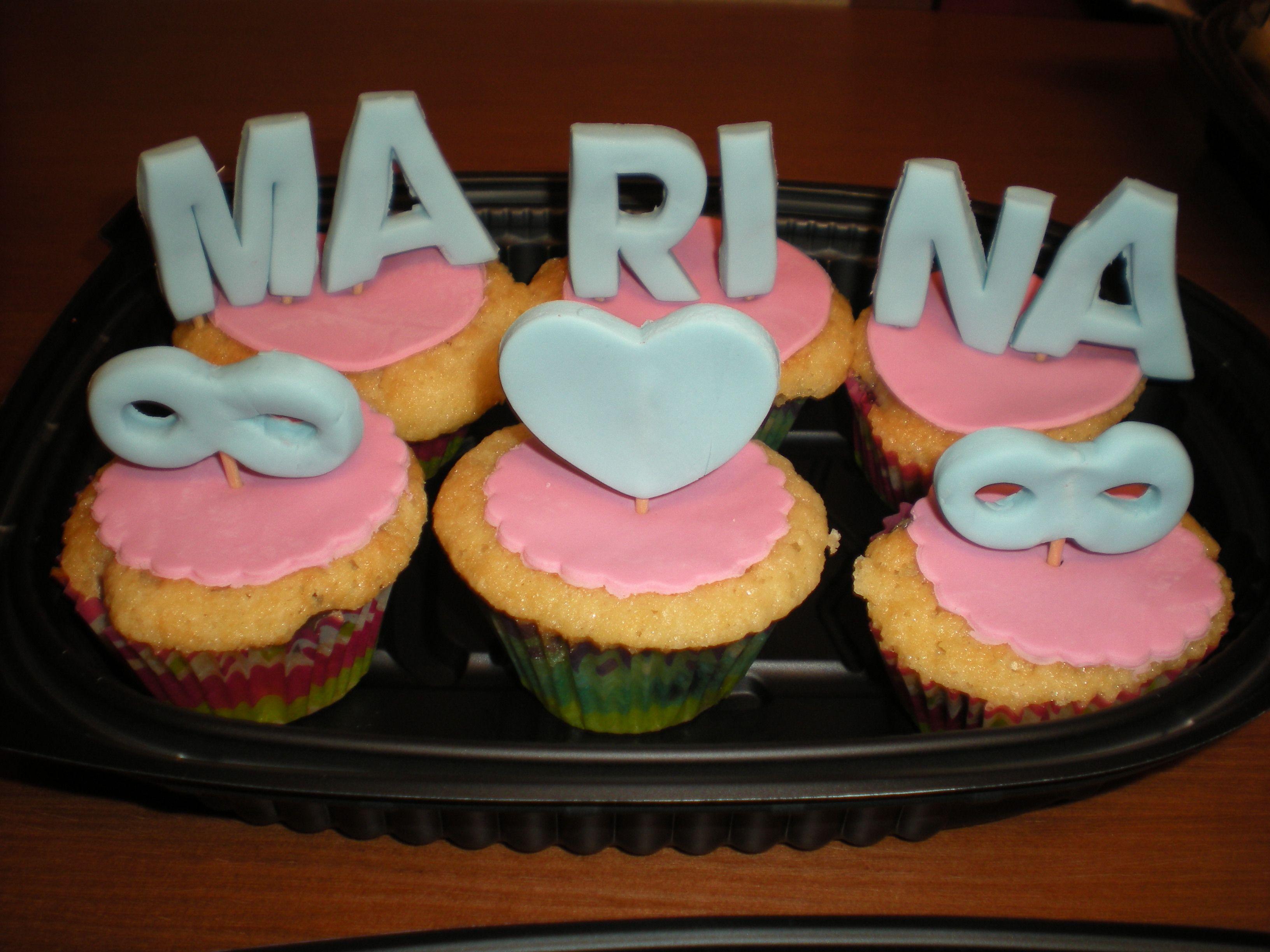 Cupcakes para el Día de San Valentín!