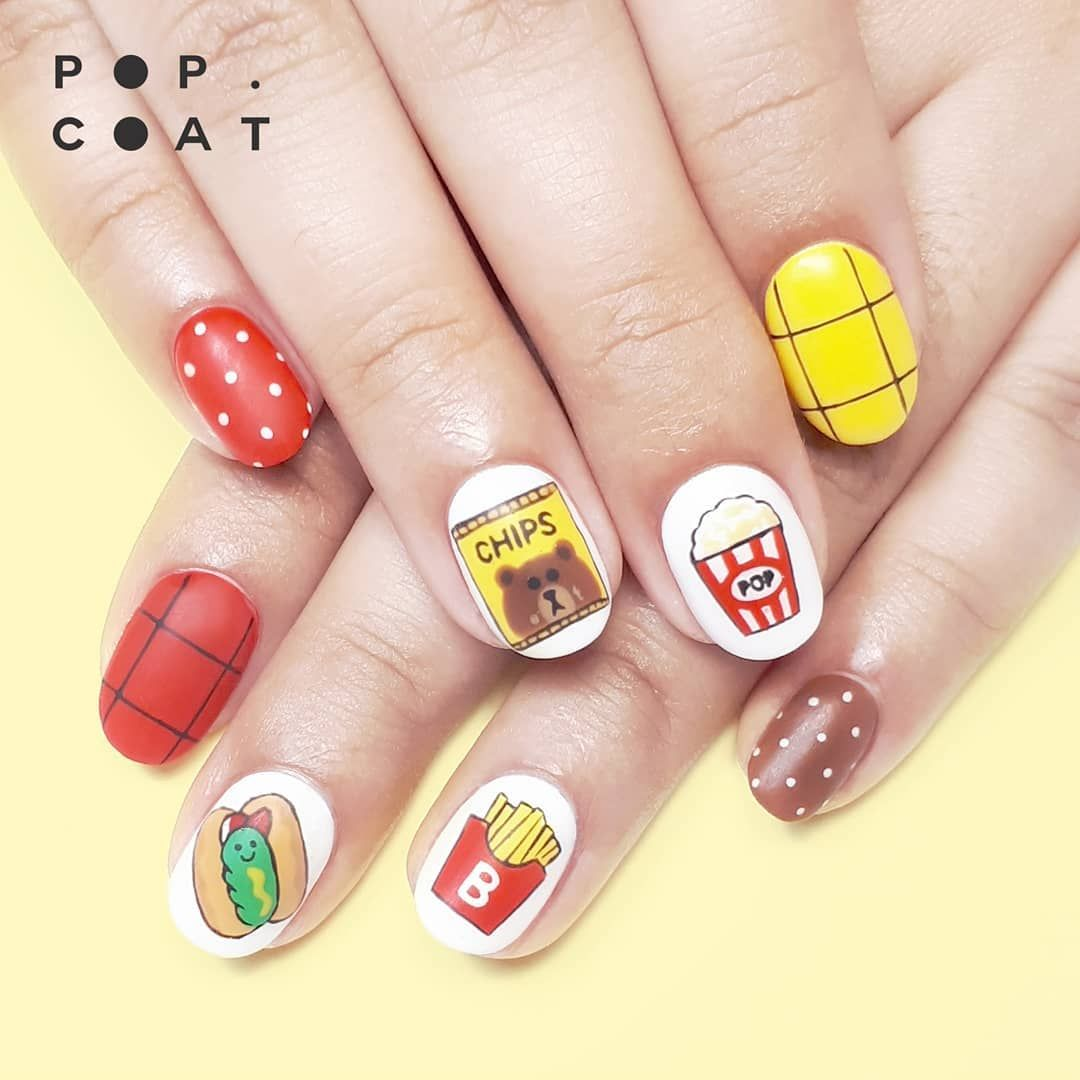 Nail art fast food | Nail art & manucures | Pinterest