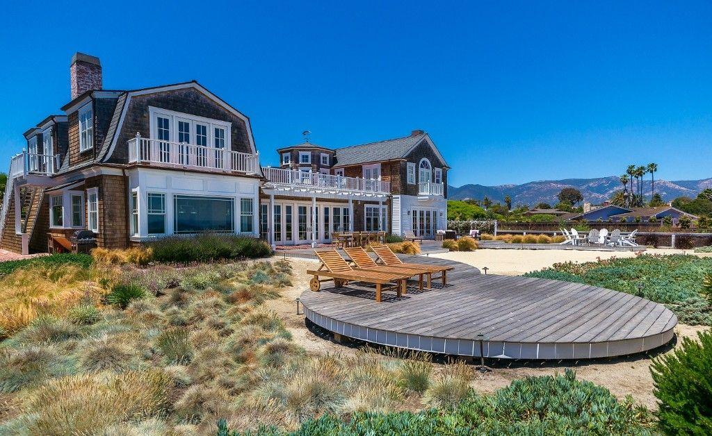 Oceanfront private beach pool 5 bed 7 bath santa for Santa barbara beach house