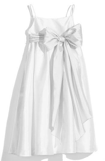 400b3f288 Us Angels White Sleeveless Empire Waist Taffeta Dress (Toddler, Little Girls  & Big Girls) available at Nordstrom