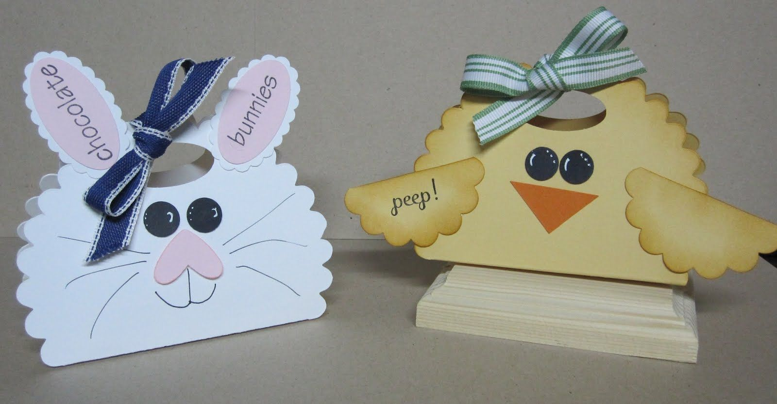 Krafting with Karen: Bunny and Chick Treat Holders