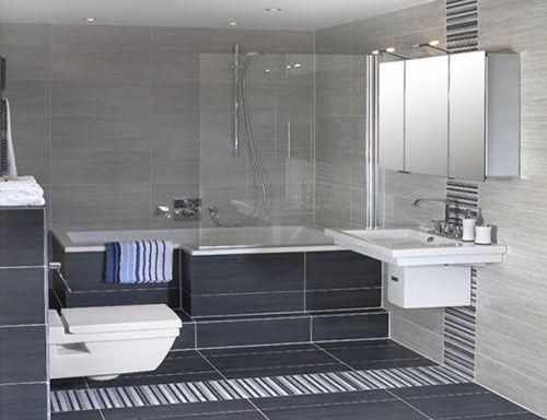 Kleine badkamer met bad interieur inrichting badkamers pinterest - Deco kleine badkamer met bad ...