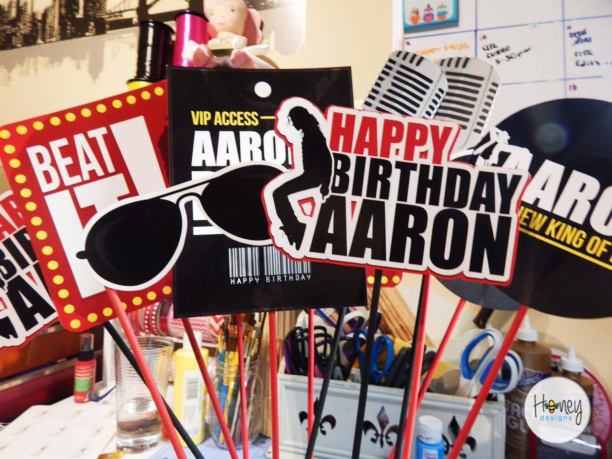Michael Jackson Party - Photo Booth Props | Party | Pinterest ...
