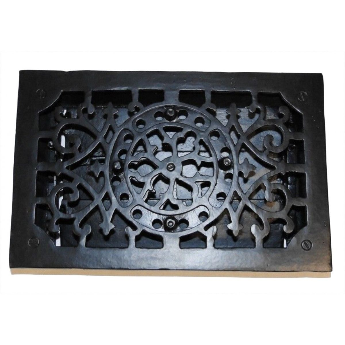 RECTANGULAR Cast Iron Floor Register Heat Grate Antique