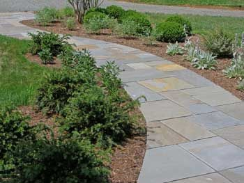 designing a walkway this one is a large sweeping curve add interest by slightly