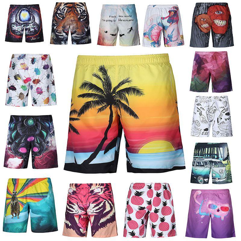 b0aa8a3580 Summer New Men's Fashion 3D Funny Print Beach Shorts Casual Boardshorts  Pants #NEW #FlatFront