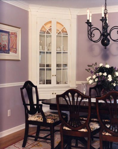 Built In Corner China Cabinet Image Only
