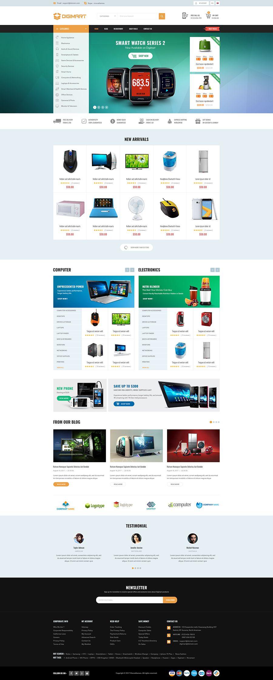 Digimart Facilitate Responsive Marketplace PrestaShop 1 7 Theme