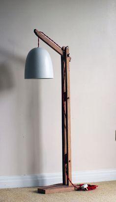 Vintage Wooden Stand Lamp Floor