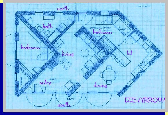 A Straw Bale House Plan 1250 Sq Ft Arrow Straw Bale House Craftsman Floor Plans House Floor Plans