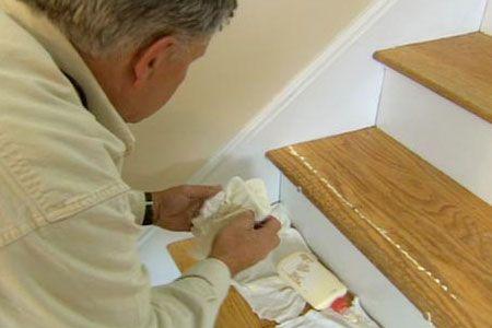 Best How To Repair A Broken Stair Tread Stairs Repair Diy 400 x 300