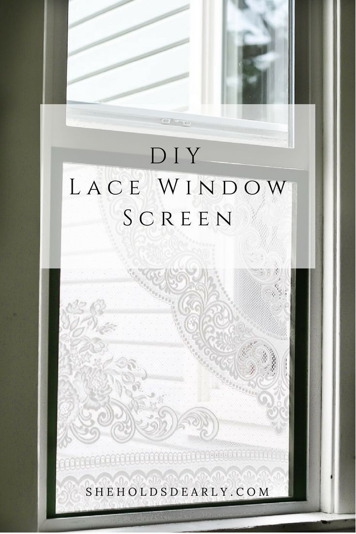 Window decor diy  diy lace window screen  for the home  pinterest  diy home and