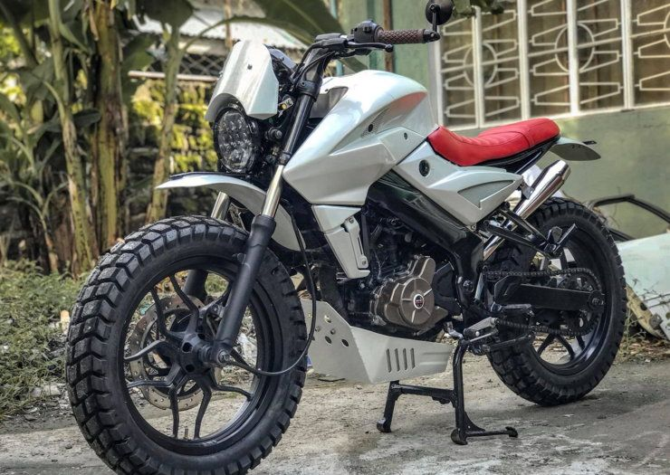Bajaj Pulsar Ns200 Modified Into A Gorgeous Scrambler With Images