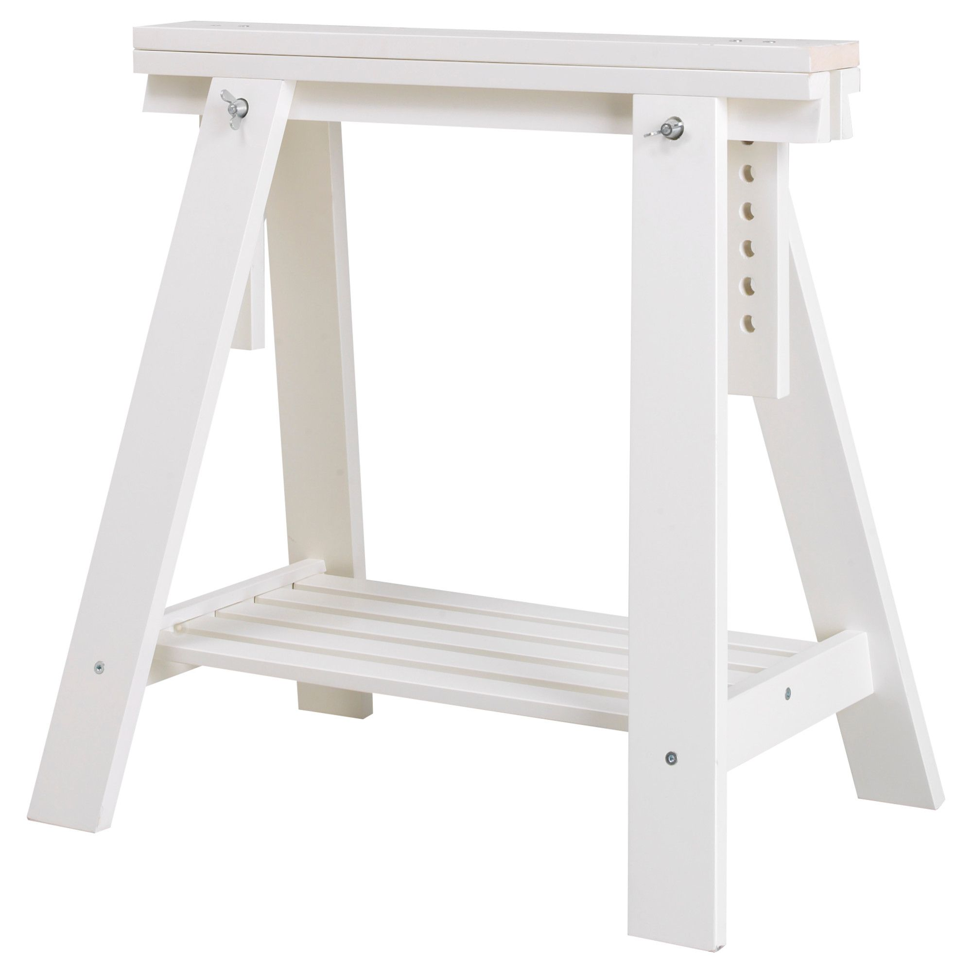 Love Them For My New Desk Legs Finnvard Trestle With Shelf White Ikea 70 X 71 93 Cm 25