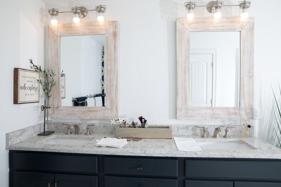 Simple His Her Bathroom Sink