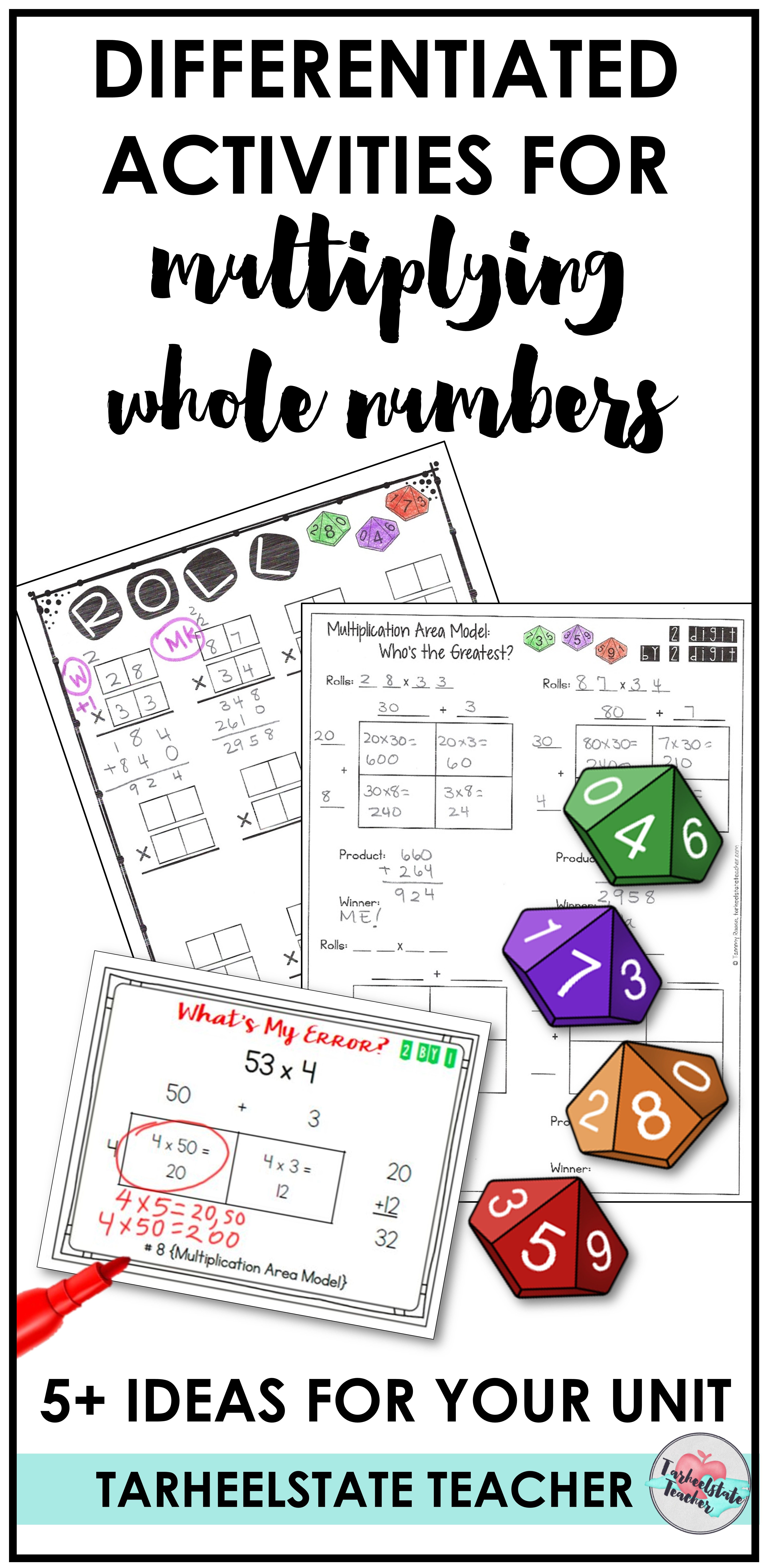 Multiplying Whole Numbers Ideas For 4th And 5th Grade