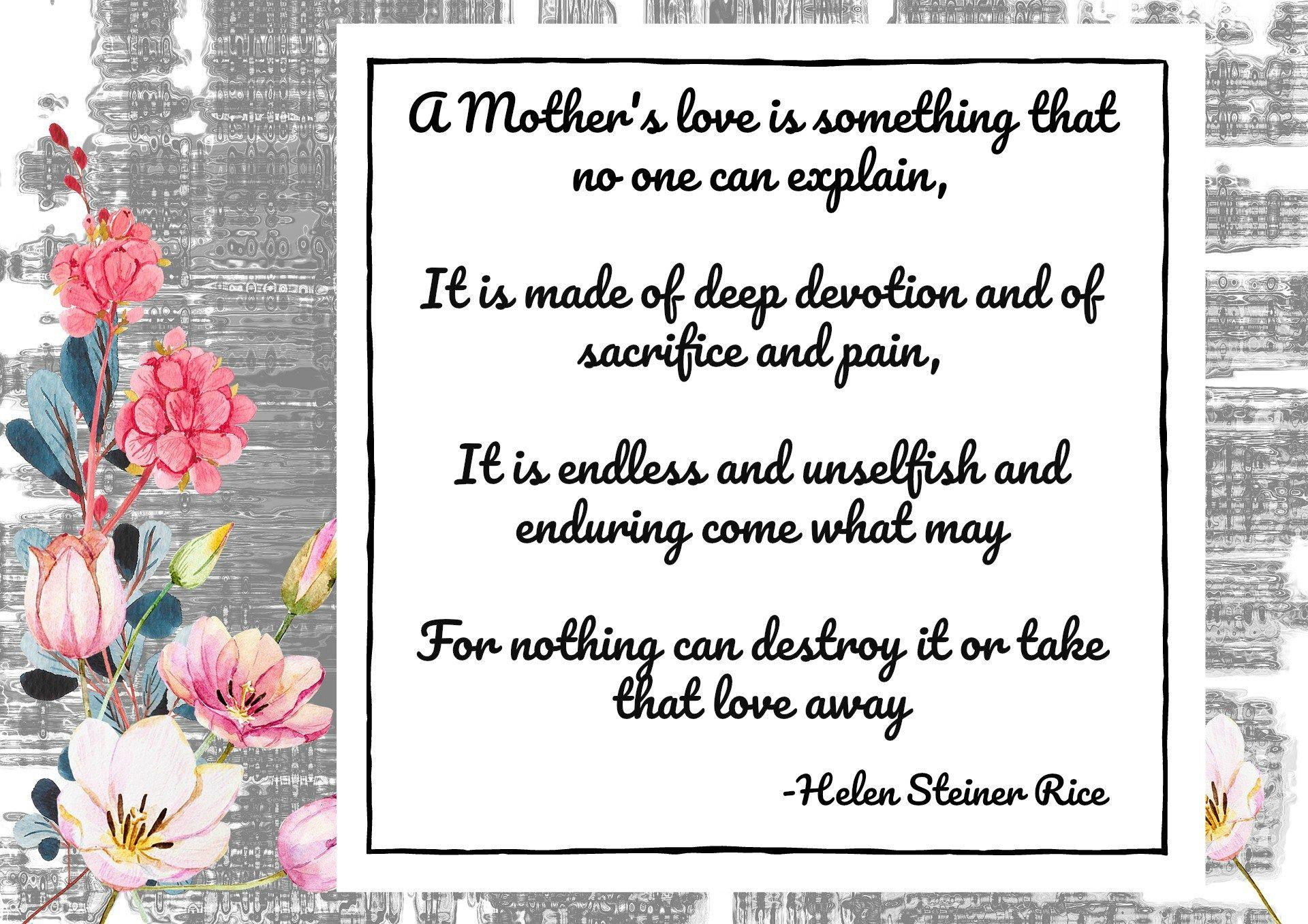 Heroic Mothers Helen Steiner Rice Helen Steiner Rice Poems
